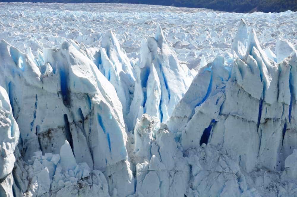 Felszíni formák a Perito Moreno gleccseren