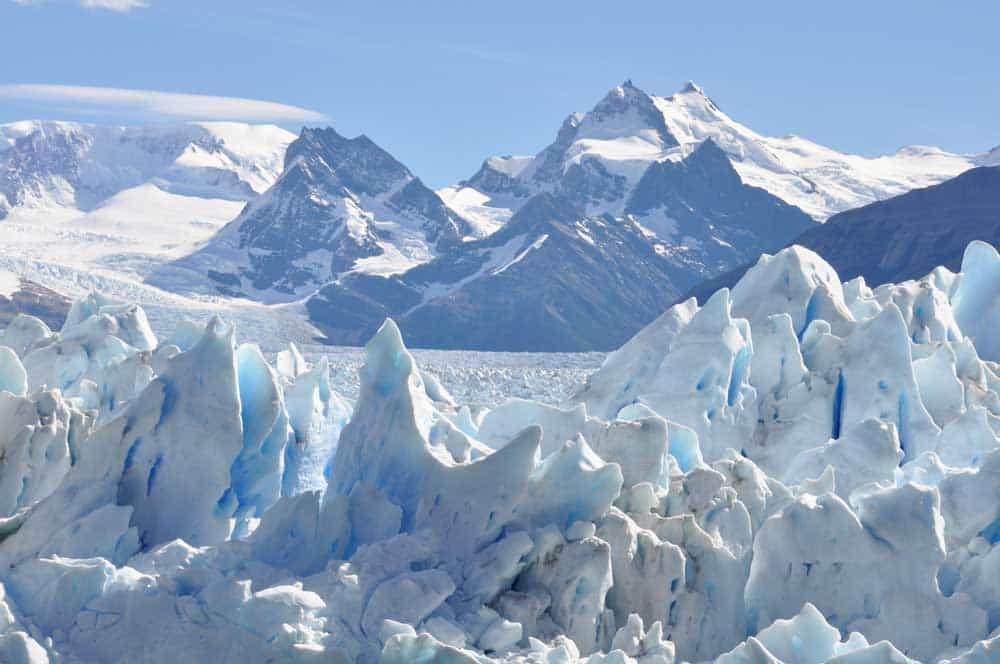 Jéghegyek a Perito Moreno gleccseren