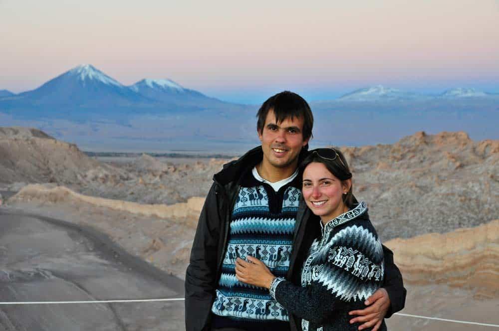 Naplemente a Hold-völgyében az Atacama-sivatagban