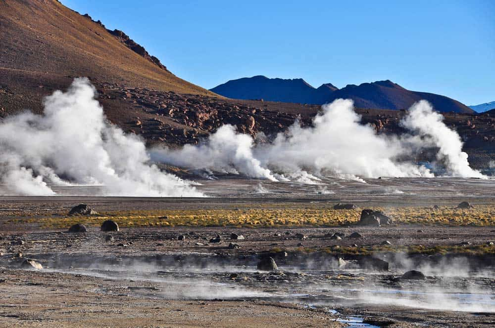 Tatio gejzírei, Chile