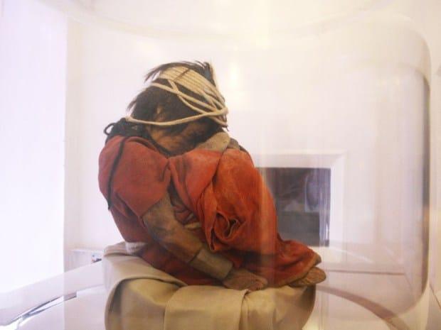 A Magashegyi Múzeum többszázéve megfagyott inka kisfiú