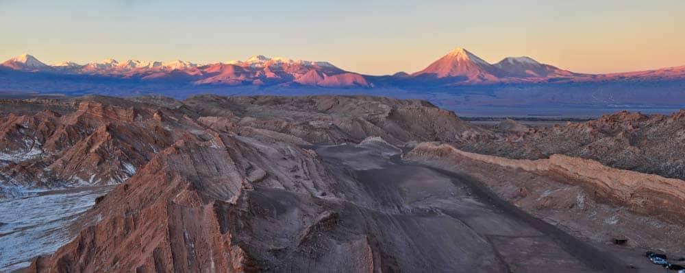 Naplemente színei az Atacama-sivatagban