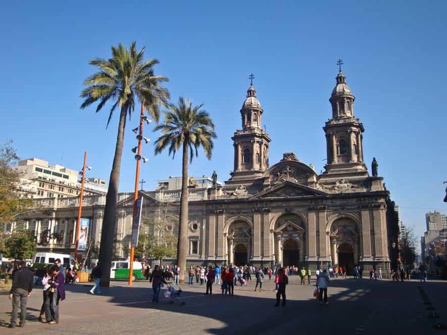 A Plaza de Armas, Santiago főtere