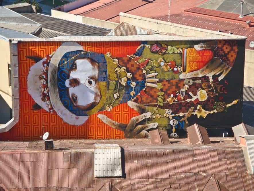 Egy, a sok graffiti közül Valparaísón