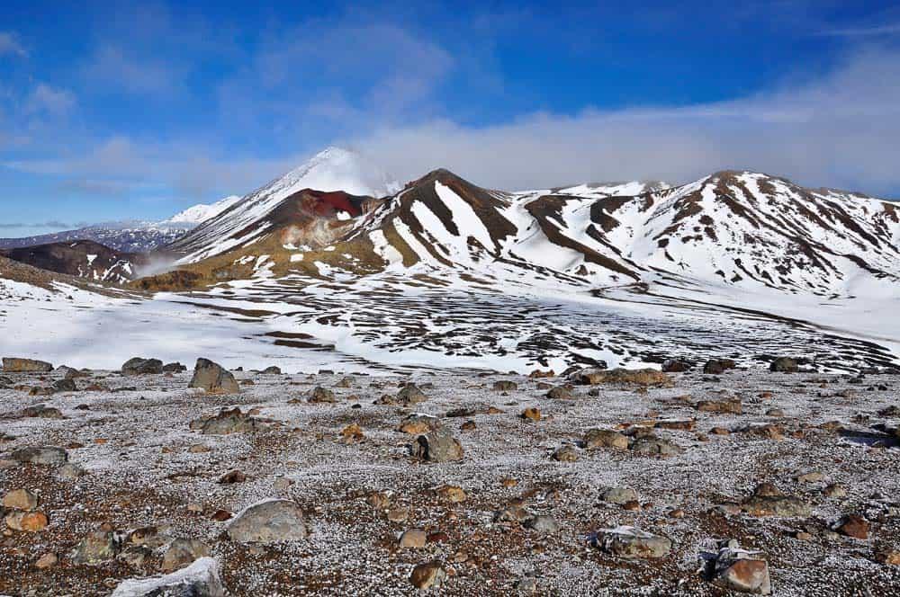 A Tongariro-vulkán látványa
