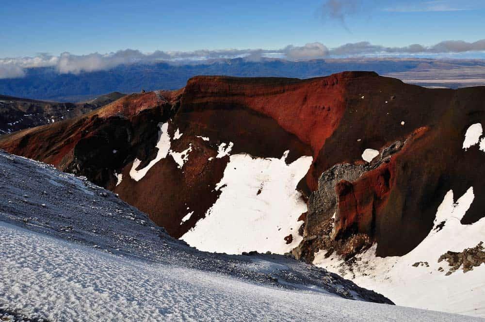 A Vörös-kráter a Tongariro Nemzeti Parkban