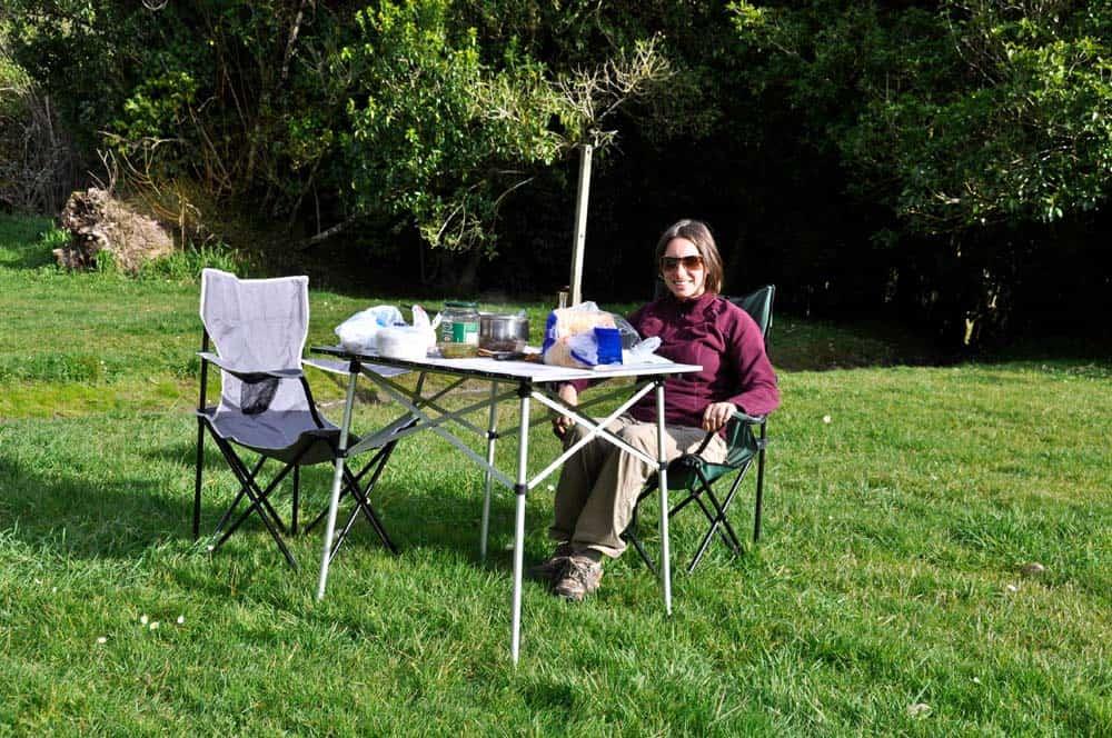 Piknik a Whanganui-folyónál