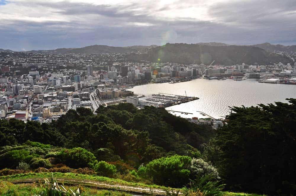 Wellington látképe, Új-Zéland