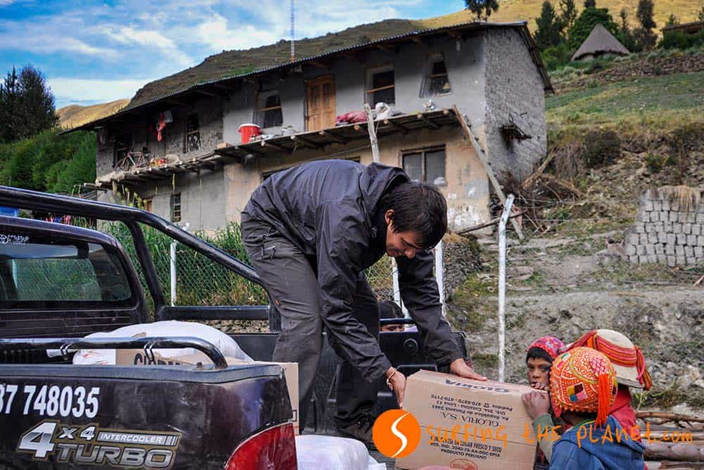 Food delivery for the Quechua