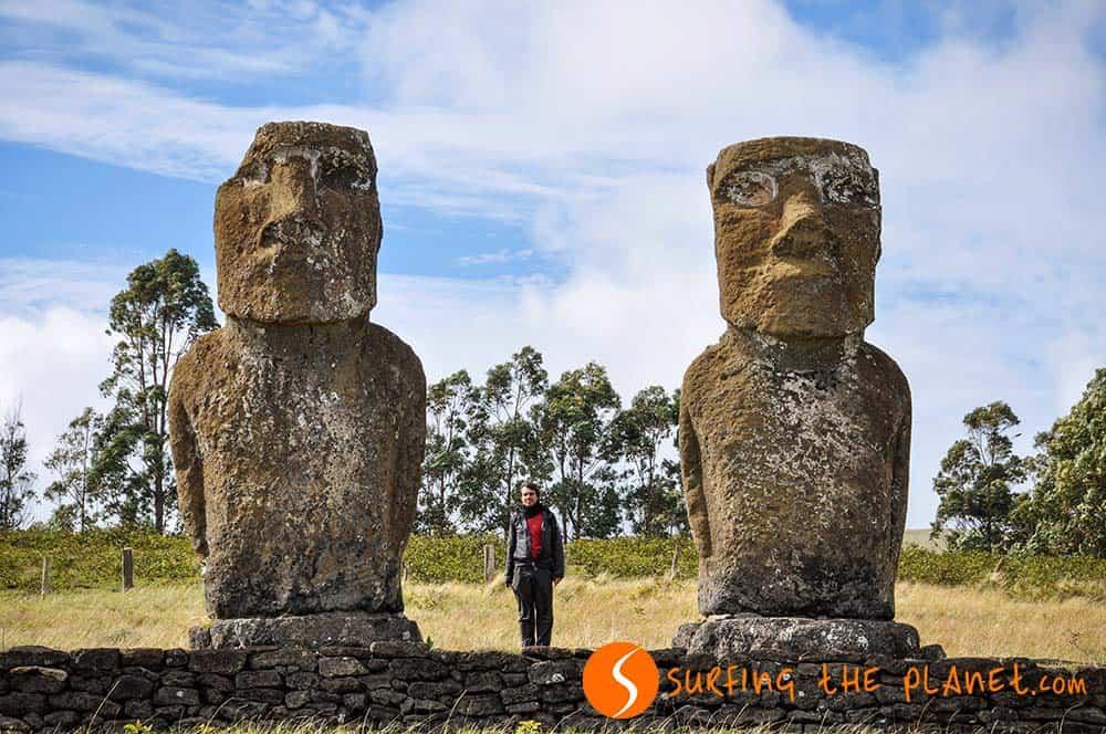 Ahu Tepeu Statues Easter Island