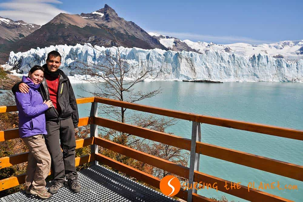 At the Perito Moreno Glacier
