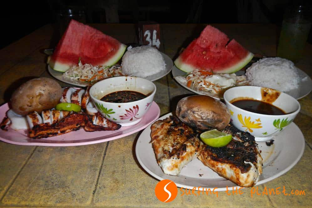 Barbecue dinner in Perhentian Island