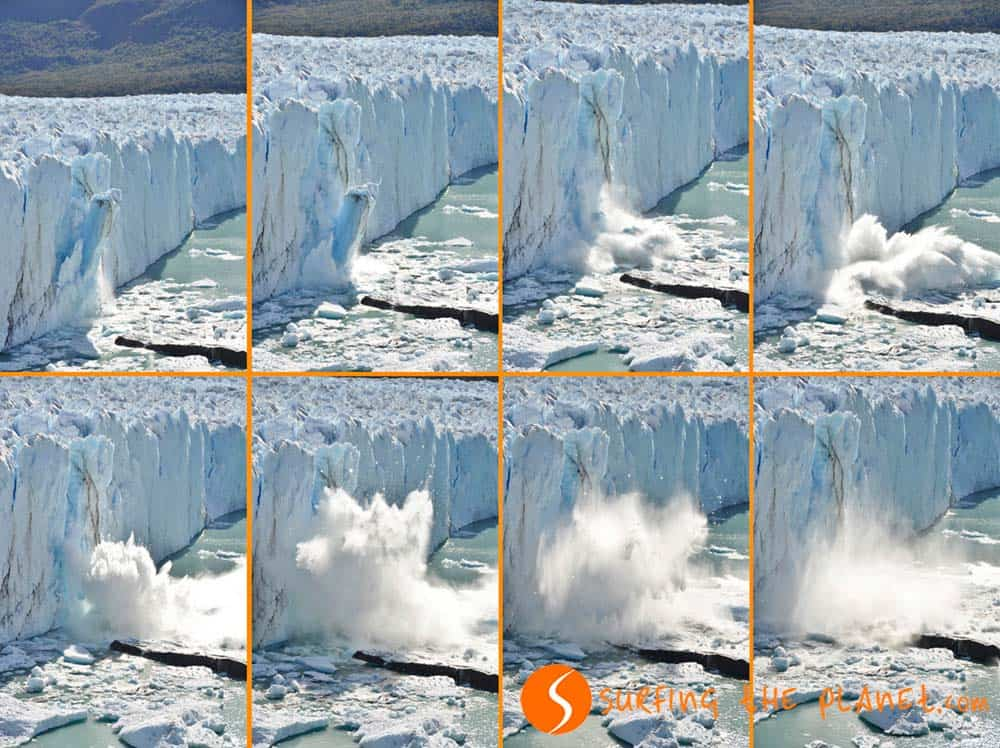 Ice detachment Perito Moreno