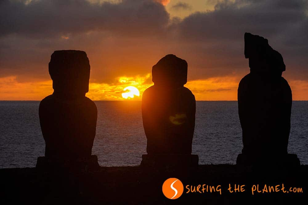 Tahai Sunset Easter Island