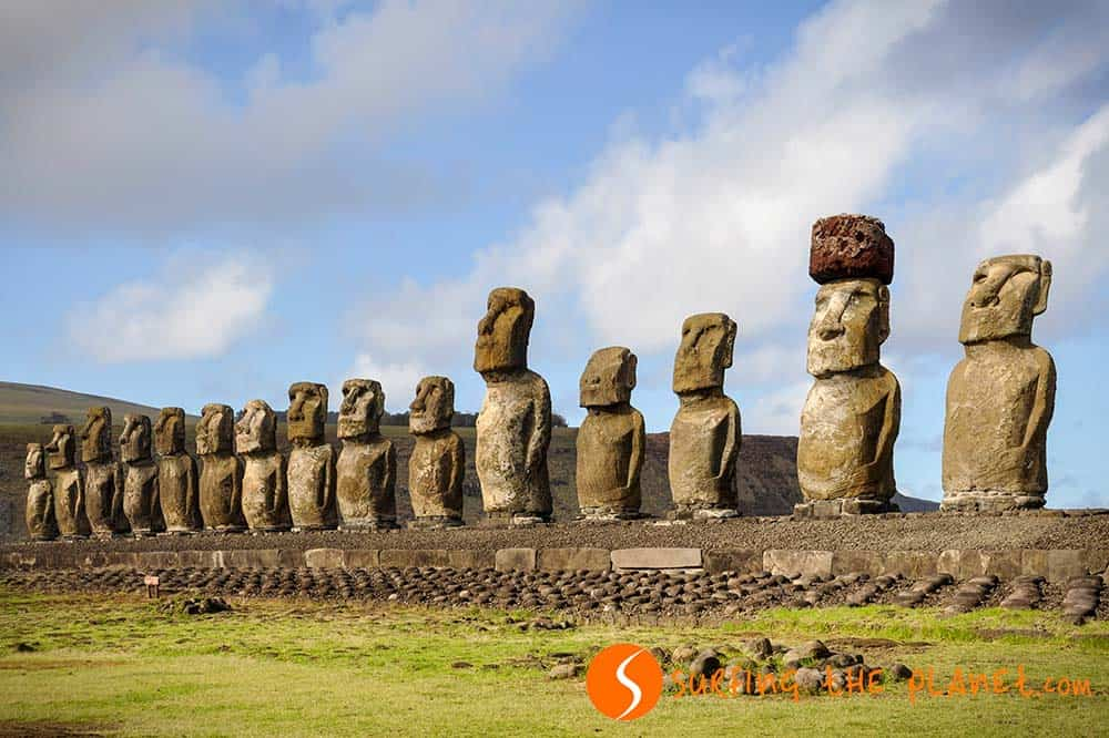 Tongariki Bay Easter Island