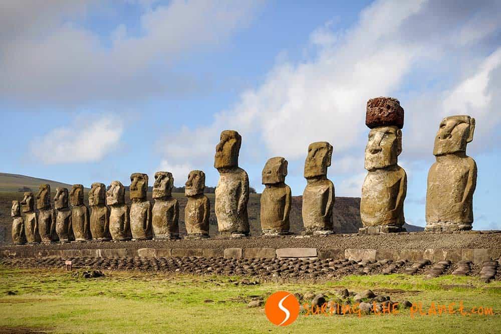 Tongariki Bay Easter Island