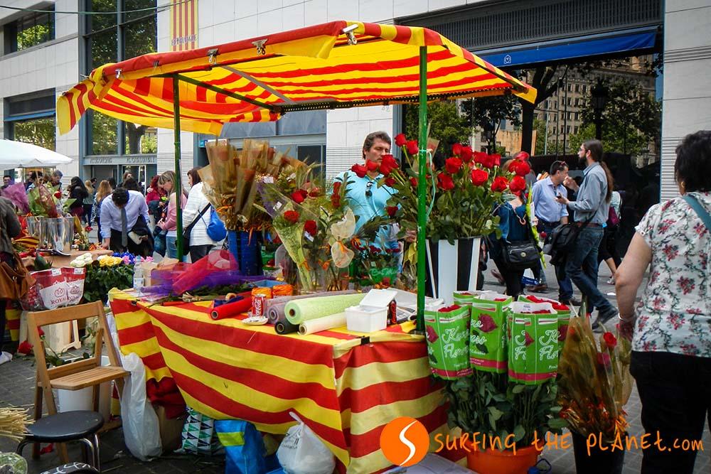 Flower stand Sant Jordi