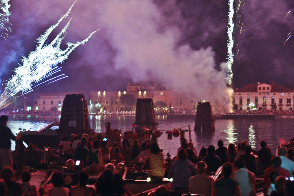 Fireworks over Venice Redentore