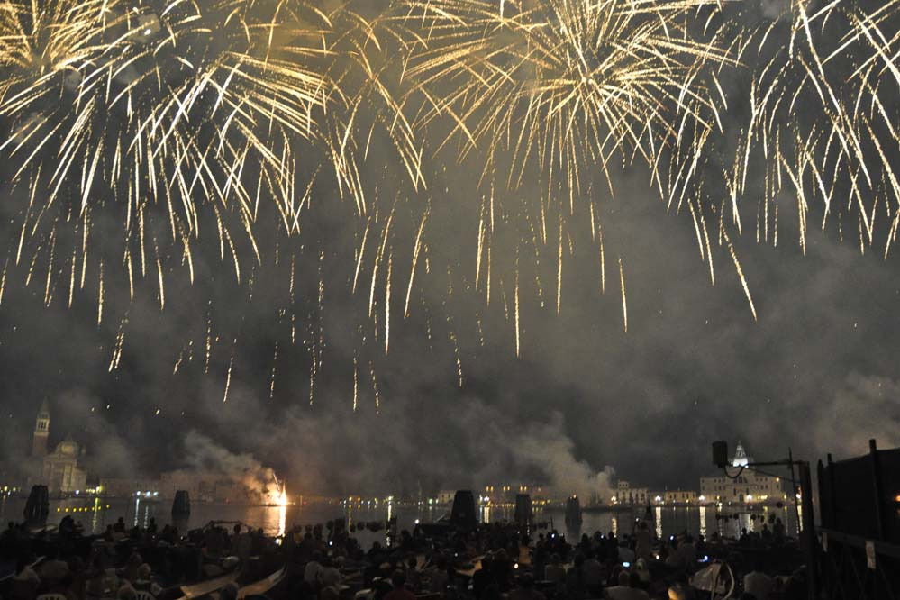 Amazing fireworks Redentore Venice