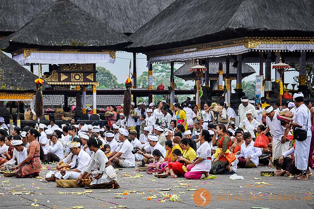 full moon ceremony in Bali going on