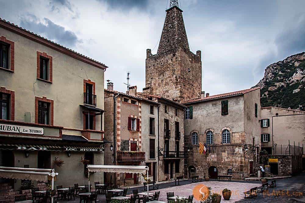 Villefranche-de-Conflent Main Square | South France Perpignan