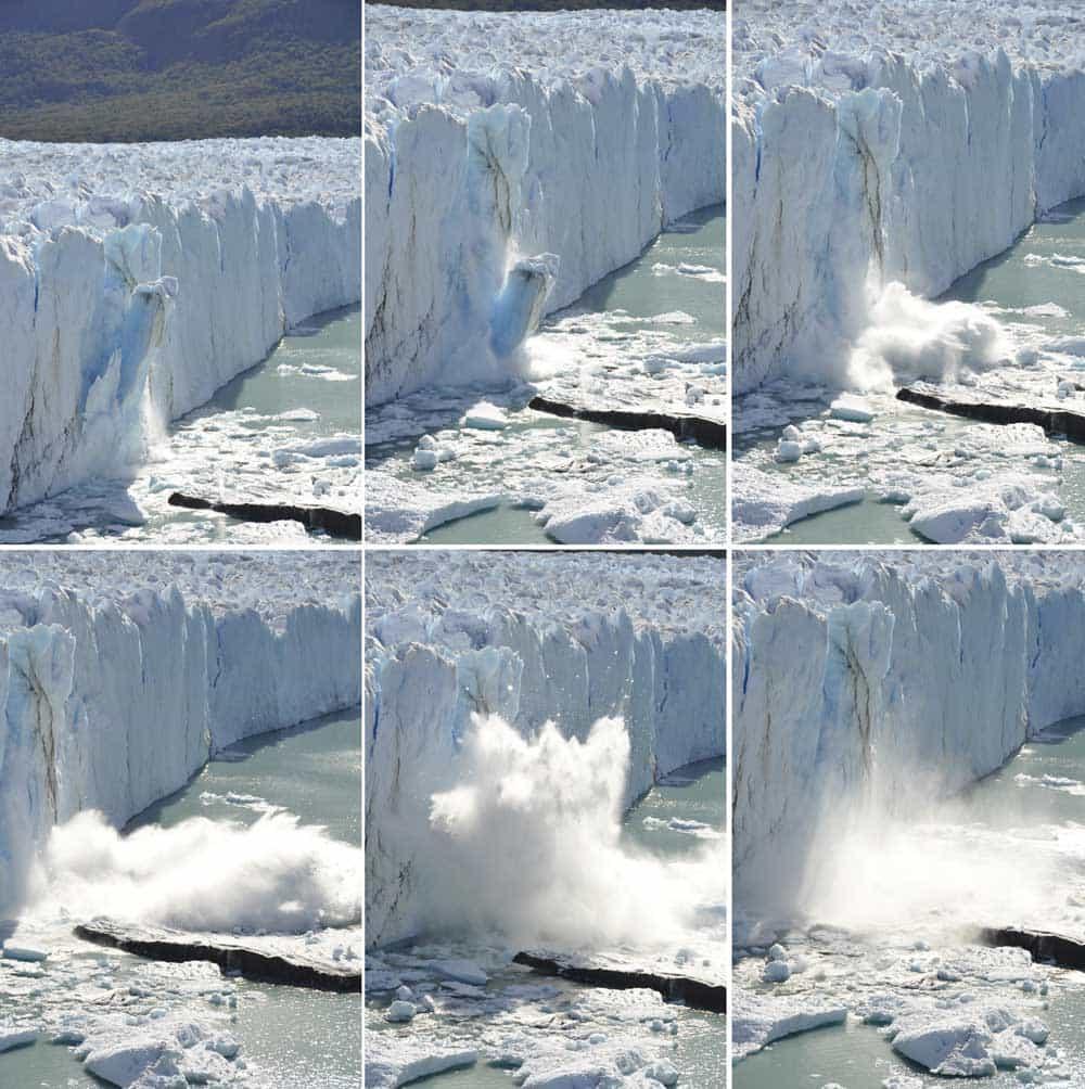 Desprendimiento del hielo, Glaciar Perito Moreno, Argentina