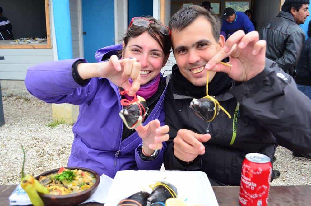 Seafood tasting, Chiloe Island, Chile