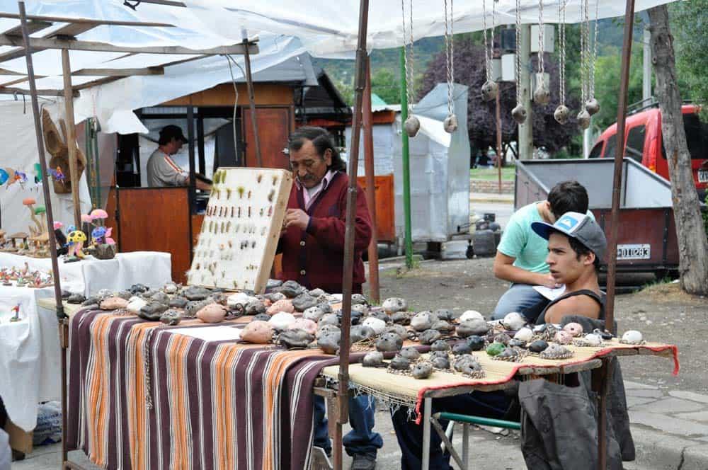 Feria artesanal, el Bolsón, Patagonia Argentina