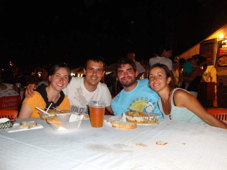 Festa a Mendoza con Javi e Romina