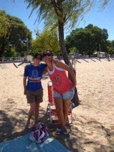 Con Patricia nel fiume Paraná
