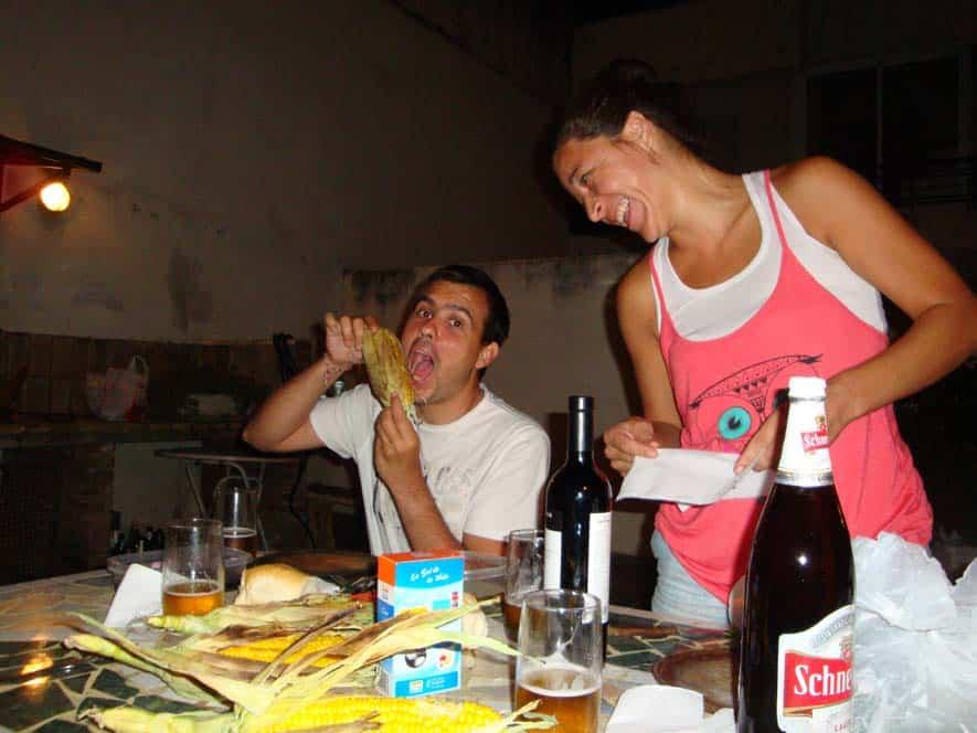 Grigliata argentina con Patricia e Juan
