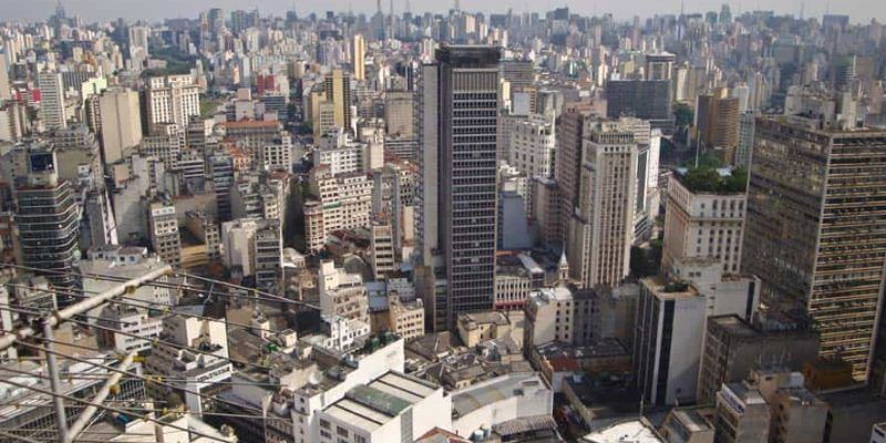 Vista de Sao Paulo, Brasil