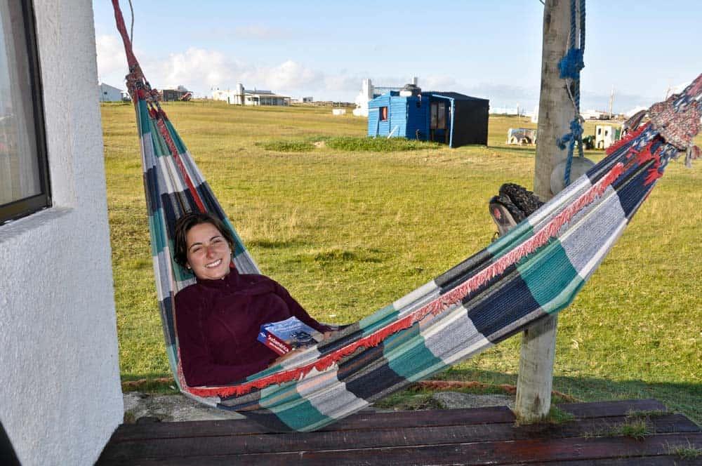 Függőágyban pihenés Cabo Polonióban