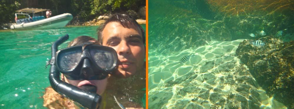 Snorkeling en Ilha Grande, Brasil