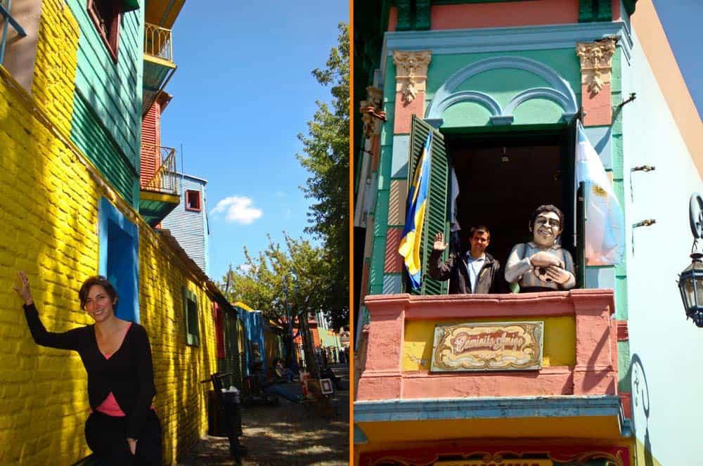El barrio de La Boca, Buenos Aires, Argentina