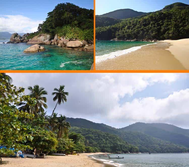 Playas vírgenes en Ilha Grande, Brasil