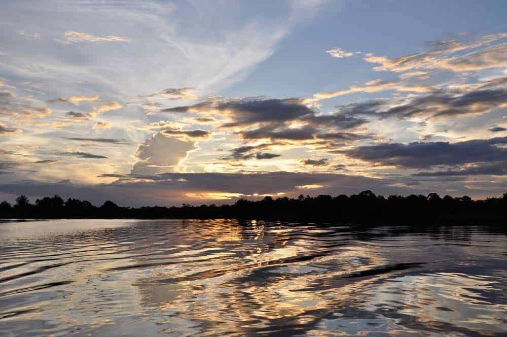 Tramonto nell'amazzonia