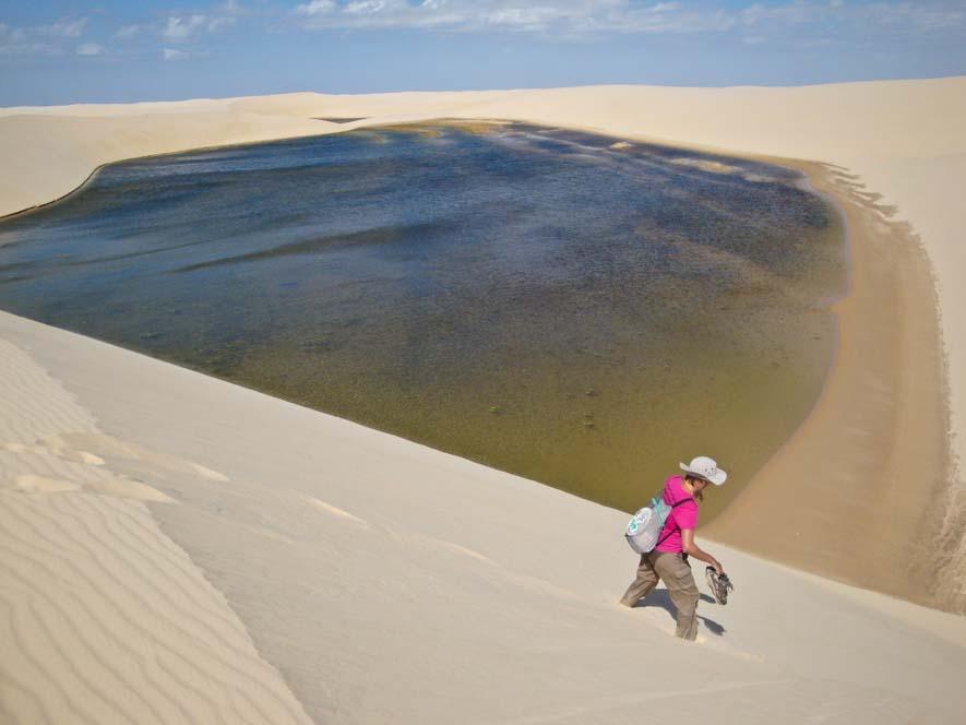 Laguna en el desierto, Lençois Maranhenses, Brasil