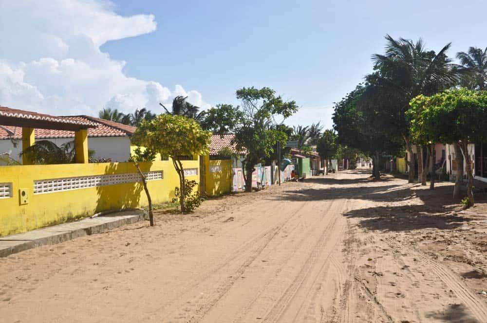 Calle con arena, Jericoacoara, Brasil
