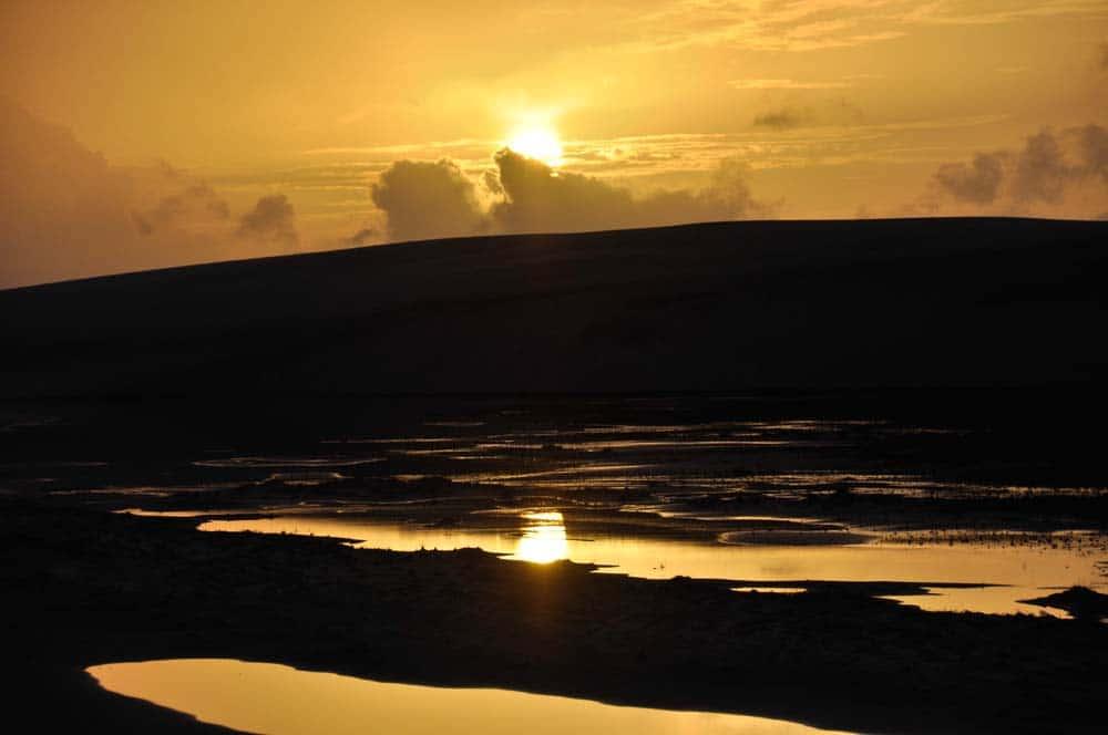 Napfelkelte a Lençois Maranheses Nemzeti Parkban