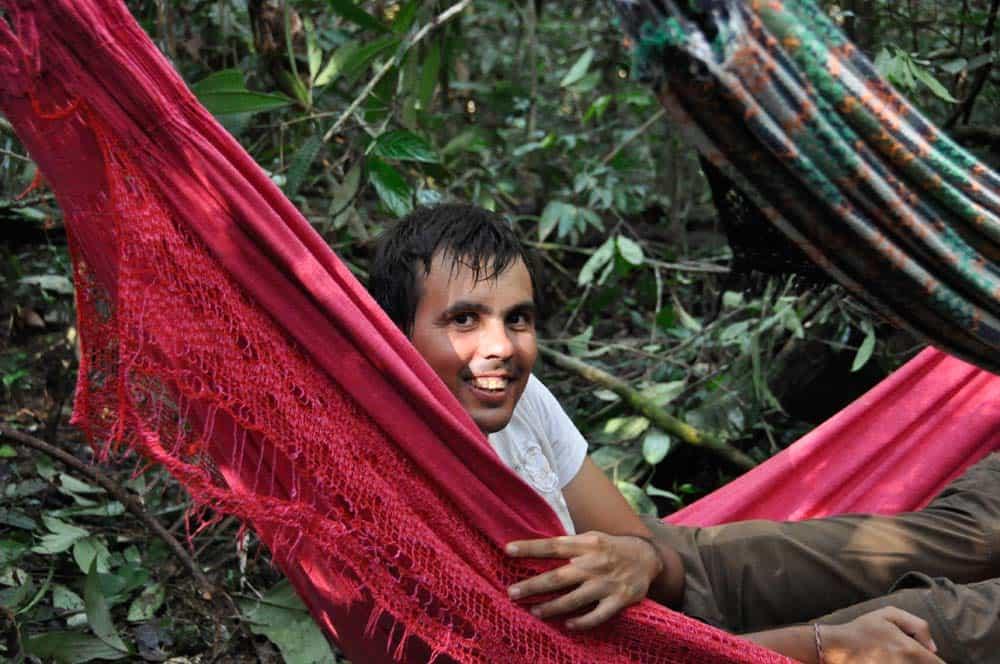 Accampando nella foresta amazzonica