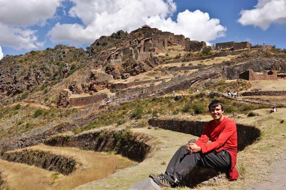 La ciudad Pisaq, Valle Sagrado, Perú