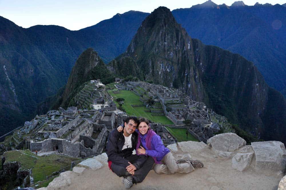 Alba nel Machu Picchu