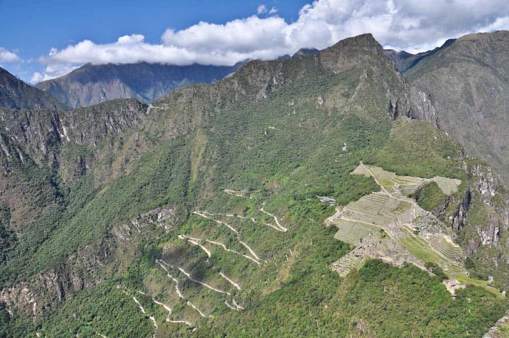 Veduta dal Wayna Picchu