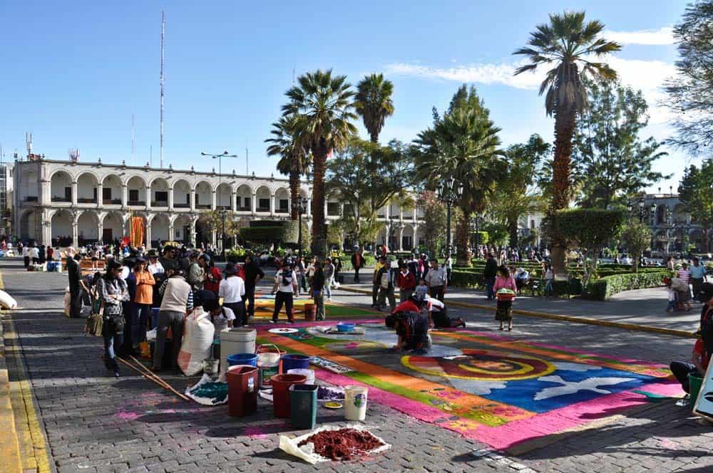Az arequipai Plaza de Armas