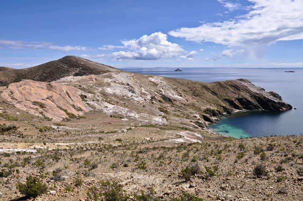 Isola del sole nel lago titicaca