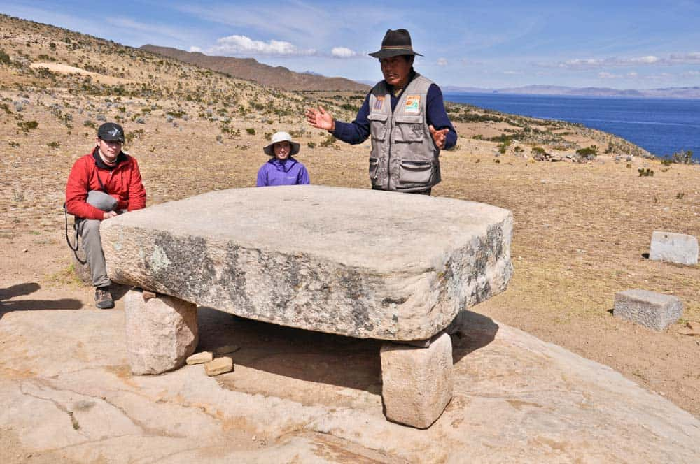 Mesa del Sacrificio, Isla del Sol, Lago Titicaca, Bolivia
