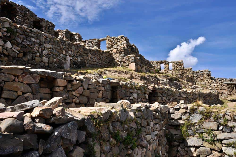 Ruinas Aymara, Isla del Sol, Lago Titicaca, Bolivia