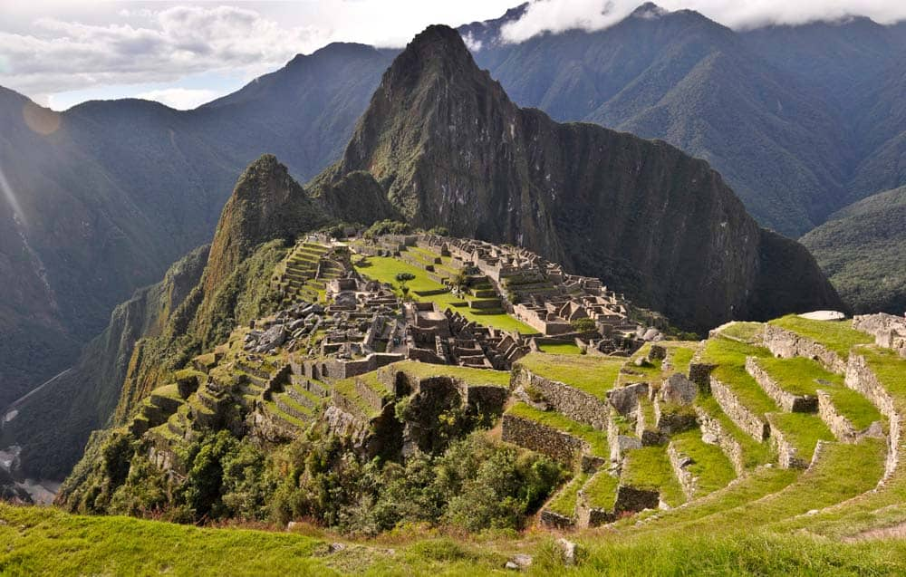 Tramonto nel Machu Picchu