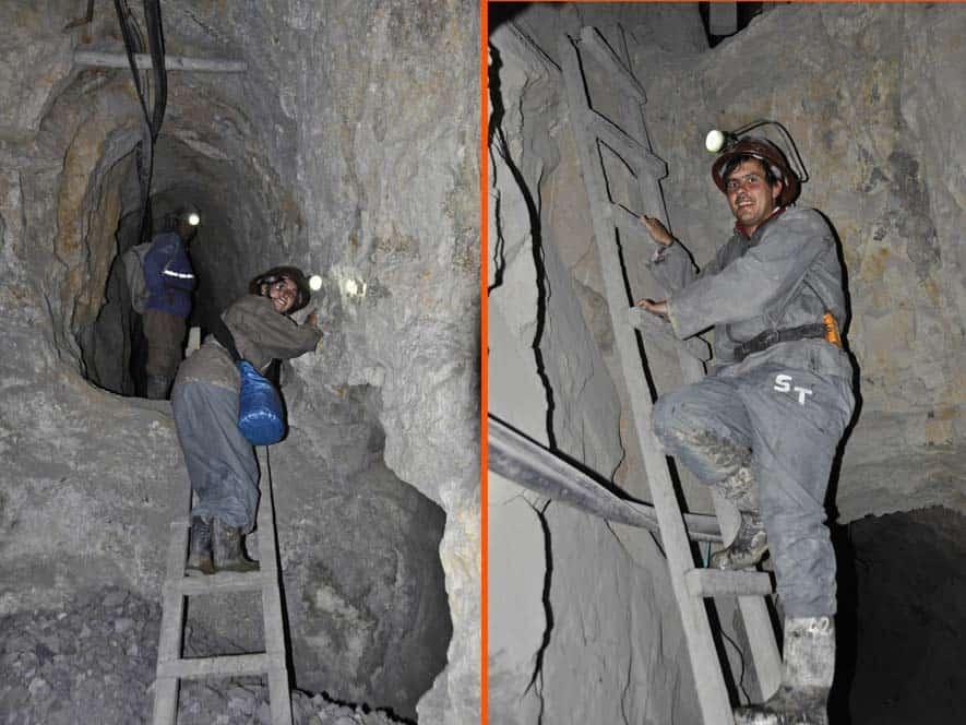 En la minas de Potosí, Bolivia